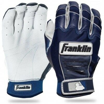 Franklin CFX Adult Pro Series Baseball Batting Gloves Pearl/Navy XL