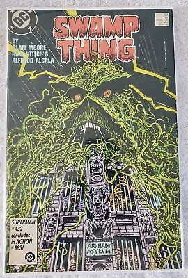 Dc Comics - Swamp Thing #52 - Vf+ Condition! - Sept 1986 *arkham Asylum - Joker*