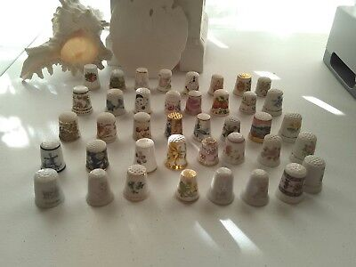 Lot of 40 Vintage Thimbles England, West Germany, Ireland, Japan Portugal & more