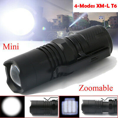 5000LM Mini Portable XM-L T6 LED 4 Modes Camping Hiking Flashlights Lamps Torch