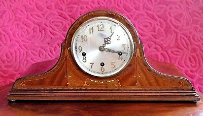 Vintage Art Deco German 'Times Money' 10-Day Mantel Clock with Westminster Chime