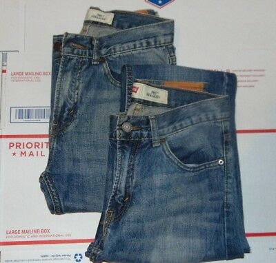 2 pair LEVIS STRAUSS BOYS 505 STRAIGHT SIZE 18 SLIM YOUTH BOY