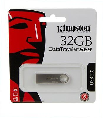 Pendrive USB-Stick Kingston DataTraveler SE9 32 GB Metall DTSE9H/32GB Flashdrive