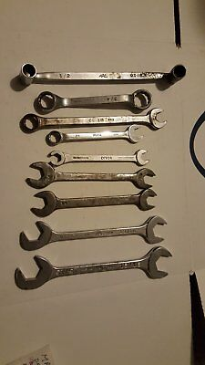 MAC Tools Lot of (15) Assorted Wrenches - Box, Combination, Open End, Flare