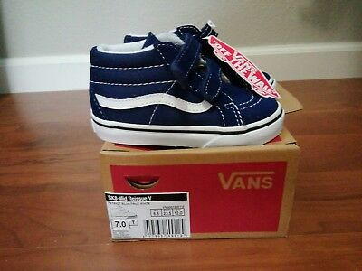 e29738961ea VANS SK8-MID REISSUE V Patriot Blue  True White Toddlers Shoes New In Box size  7 -  30.00