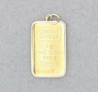 Credit Suisse Rectangle Fine Gold Bar (999.9) 771643 5 gram