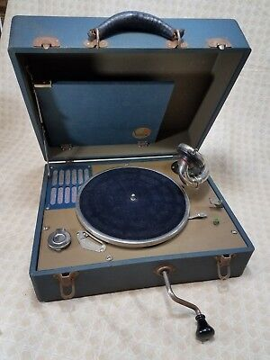 'SILVERTONE PORTABLE' 'WIND-UP' TABLETOP PHONOGRAPH-WITH 6-78RPM RECORDS Repair