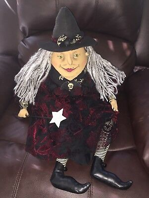 Witch Hilda By Olive & Cocoa Hand Painted Face Black Red HALLOWEEN