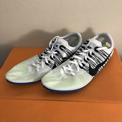 lowest price 53b3c 3ae10 Nike Zoom Victory 2 Flywire Spikes Track Shoes Men Size 15 White 555365-100