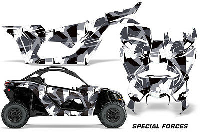 Full UTV Decal Graphics Kit Wrap For Can-Am Maverick X3 DS RS 2016-2018 FORCES W