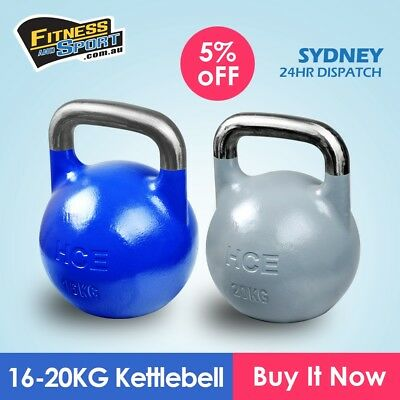 NEW Competition Kettlebell Set of 16KG & 20KG Fitness Gym Strength Training