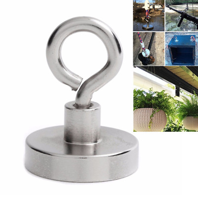 1Pcs Strong neodymium magnet round pulling force river fishing magnetic TPD