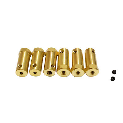 3/4/5/6/7/8mm Brass Motor Shaft Coupler Connector Extended Coupling For DIY