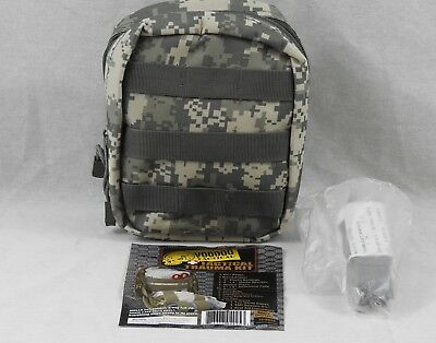 Tactical Medical Trauma First Aid Medic Kit Stocked ACU Camo IFAK w/ Tourniquet
