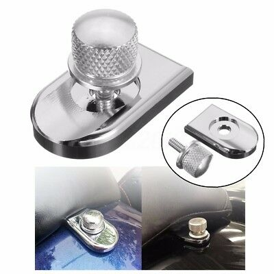Chrome Seat Bolt Tab Screw Mount Knob Cover For Most 96 & Later Models Harley