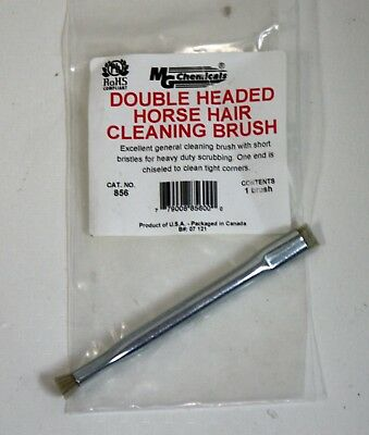 MG Chemicals 856 - Double Headed Horse Hair Cleaning Brush - NEW in Factory Pack
