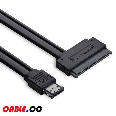"Cablecc 50cm Power ESATA & USB 2.0 Combo to 2.5"" SATA 22Pin Cable for SSD HDD"