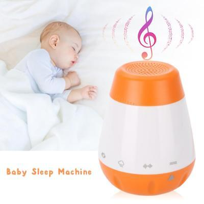 Portable Baby Sleep Soother Sound Machine Gentle 6 Sounds USB White Noise