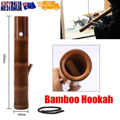 Bamboo Hookah Water Bong Smoking Pipes Glassware Shisha Tobacco Bowl Decor