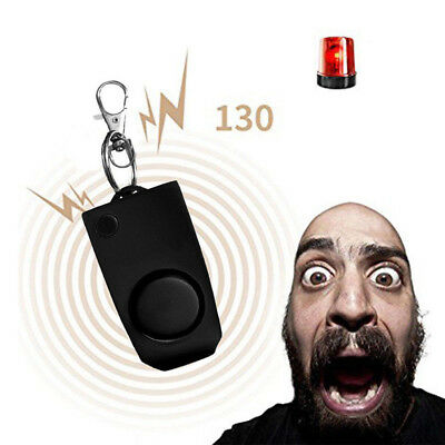 Personal Panic Rape Alarm Keychain Loud Sound Safe Security Attack Whistle 130db