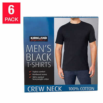 New Kirkland Signature Men's Crew Neck Tee Shirt 6-pack White Size Small to 3XL