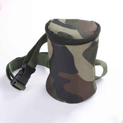 Kids Metal Detector Camo Cylindrical Bag Finds Pouch W/ Waist Belt Tools Holder