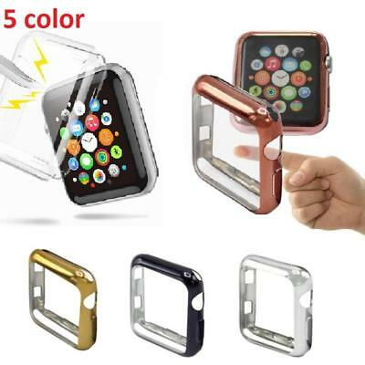 Aluminum For Apple Watch iWatch 42mm Protective Screen Face Bumper Case Cover