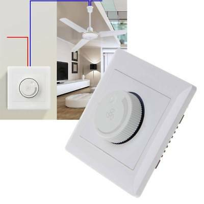 Adjustment Ceiling Fan Speed Switch Control Wall Button Dimmer Switch 220V 10A