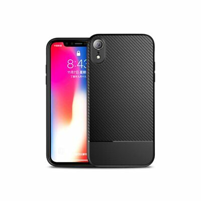 Ultra Thin Slim-Fit Carbon Fiber Soft Silicone Case Cover For iPhone XS Max XR A