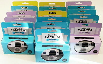 Lot B - Job Lot of Single Use Cameras With Flash - 27 Exposures - Qty 16