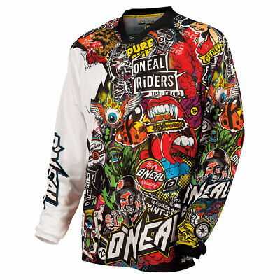 ONEAL Ultra Lite LE 70 Jersey Nero MX DH FR MTB MOTO CROSS camicia shirt CLASSIC