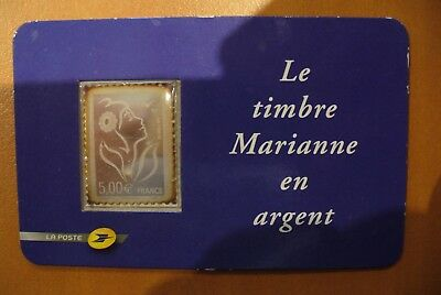 Timbre Argent  Marianne  France   -  Neuf Sous Blister