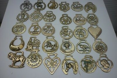 75 x ASSORTED HORSE BRASSES - (8B) ~ 1 of 5 HORSE BRASS LISTINGS
