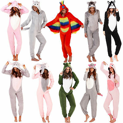 1Onesie Womens Girls Onezee Christmas Soft Snuggle Fleece All in One Pyjamas Pjs