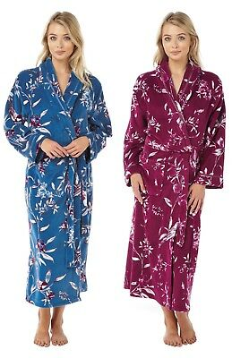 New Women s Fleece Peacock Bird Design Luxury Xmas Gift Dressing Gown House  Coat 4cdb925d4