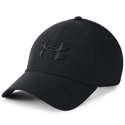 Under Armour Mens Blitzing 3.0 Cap Basecap Mütze Stretch Kappe black 1305036-002