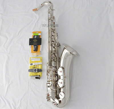 Professional TaiShan Tenor Saxophone Silver nickel Bb Sax With Case+ Metal Mouth