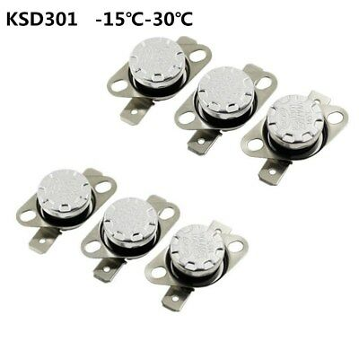 Temperature Switch Control Sensor Thermal Thermostat -15°C-30°C NO/NC KSD301