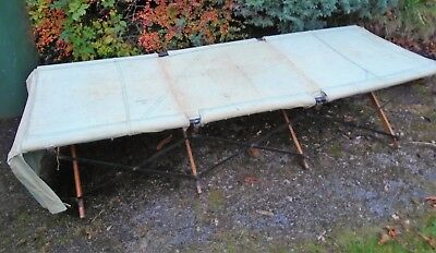 Original WW2 X Chair Officers Folding Camp Campaign Bed. 1942 Dated. Wirral