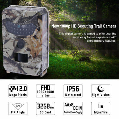 Infrared Night Vision IR 12MP 120°  HD1080P Trail Security Camera Hunting Cam