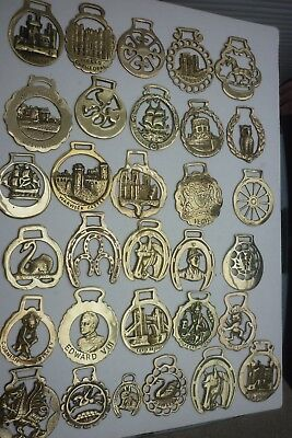 80 x ASSORTED HORSE BRASSES ~ (8A) ~ 1 of 5 LISTINGS