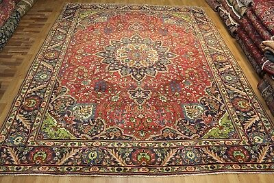 Old Hand Made Traditional Persian Rug Oriental Handmade Red Carpet 385x300 cm