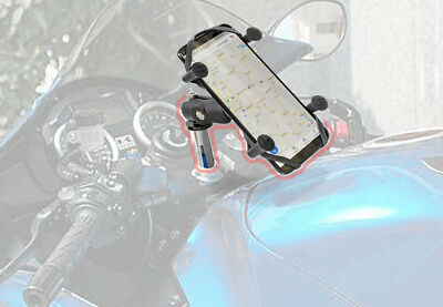X Web Grip Mount Phone GPS Navigation Cradle Holder For Kawasaki NINJA ZX-14R
