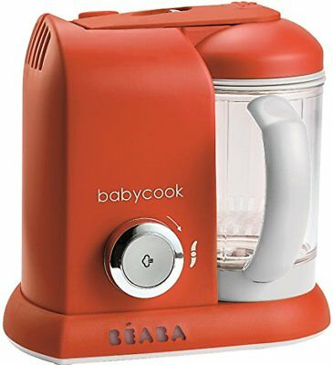 BEABA Babycook 4 in 1 Steam Cooker & Blender and Dishwasher Safe, Paprika