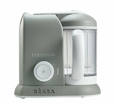 BEABA Babycook 4 in 1 Steam Cooker & Blender and Dishwasher Safe, Cloud