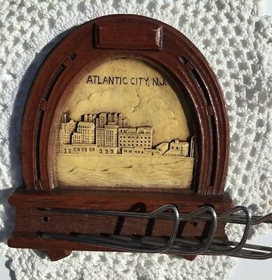 Vintage Atlantic City NJ Advertising Souvenir tie holder
