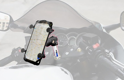 X Web Grip Mount Phone GPS Navigation Cradle Holder For Suzuki GSXR 600/750/1000
