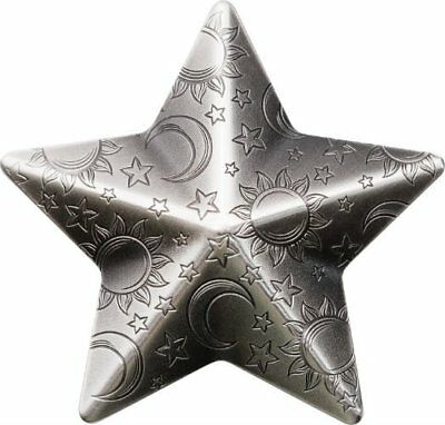 TWINKLING STAR - 2018 $5 1 oz Pure Silver Smartminting Coin - Palau - CIT