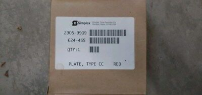 Lot of 10)SIMPLEX 2905-9909 Red Plate 624-455 Fire Alarm