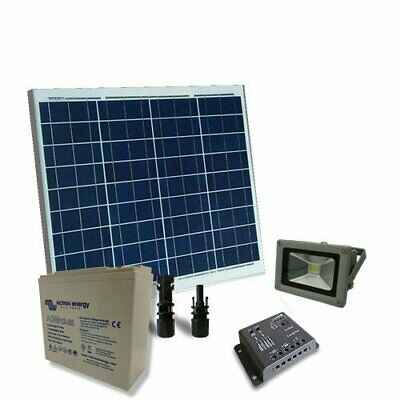 Solar Kit Lighting Fluo 50W 12V SR Inside and Outside Super Cycle Battery 25Ah